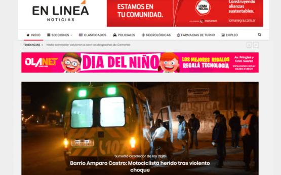 En Línea Noticias – Portal de noticias de la ciudad de Olavarría, Provincia de Buenos Aires.